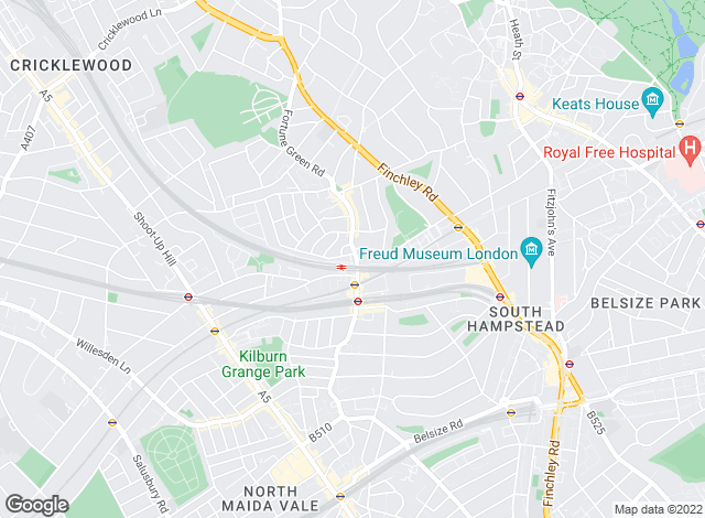 Map for Hunters, West Hampstead