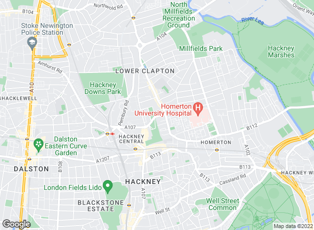 Map for Winkworth - Hackney, Hackney