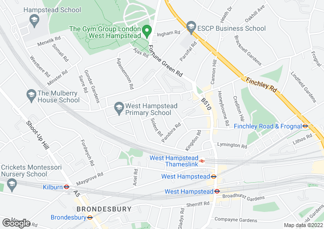 Map for Narcissus Road, West Hampstead, NW6