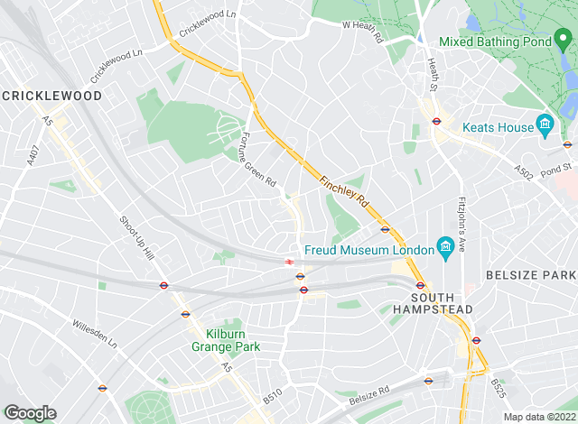 Map for Abacus Estates, West Hampstead, London