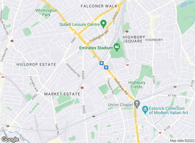 Map for Stadium Residential, Islington