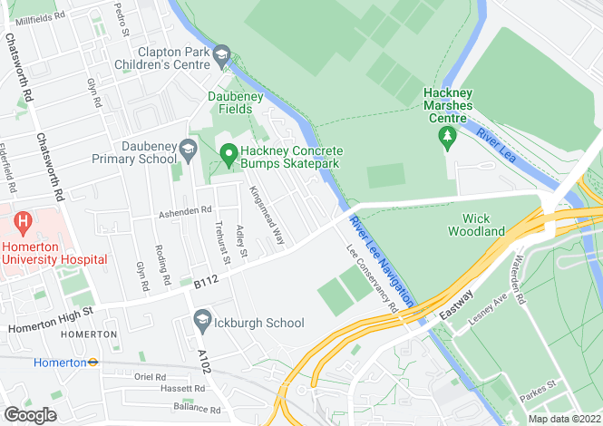 Map for Homerton Road,