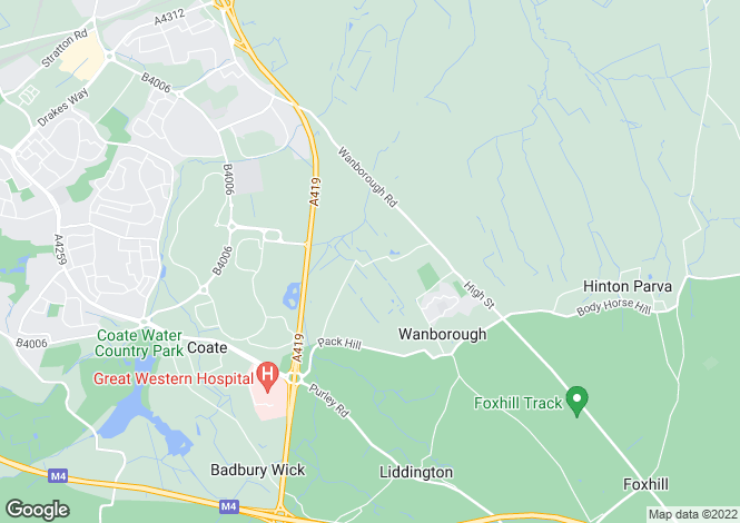 Map for Wanborough,