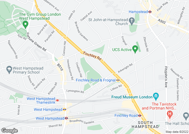 Map for Alvanley Gardens, West Hamstead, London, NW6 1JD