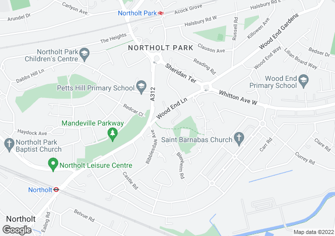 Map for Newnham Close, Middlesex, UB5