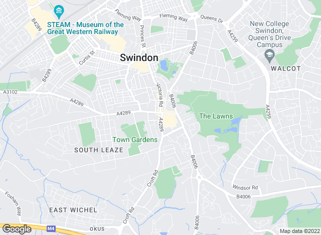 Map for Philip Andrews Estate Agents & Valuers, Swindon - Lettings