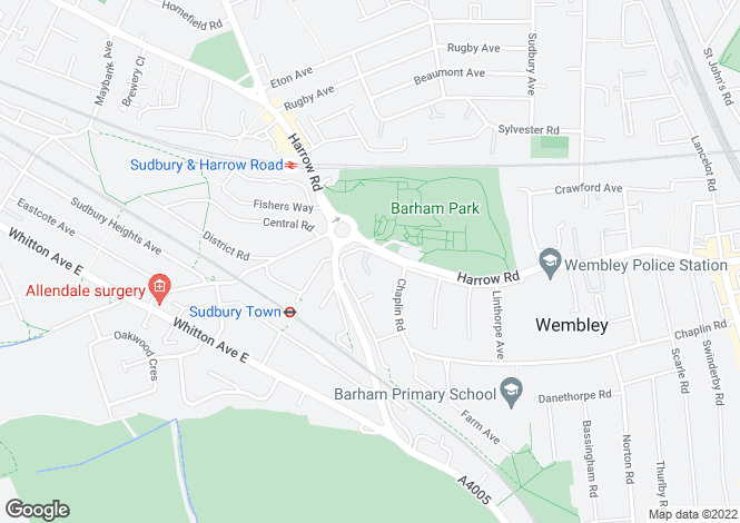 Map for Harrow Road, Wembley