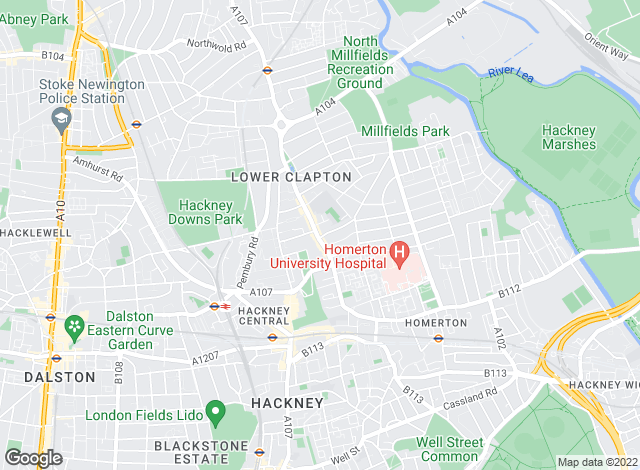 Map for Castles Estate Agents, Hackney