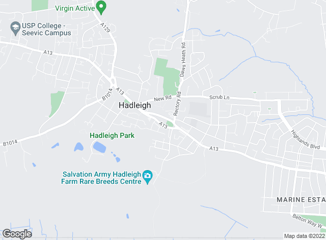 Map for Bradleys, Hadleigh