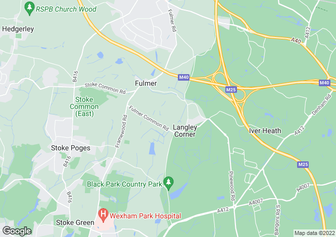 Map for Fulmer Rise, Fulmer, Buckinghamshire, SL3