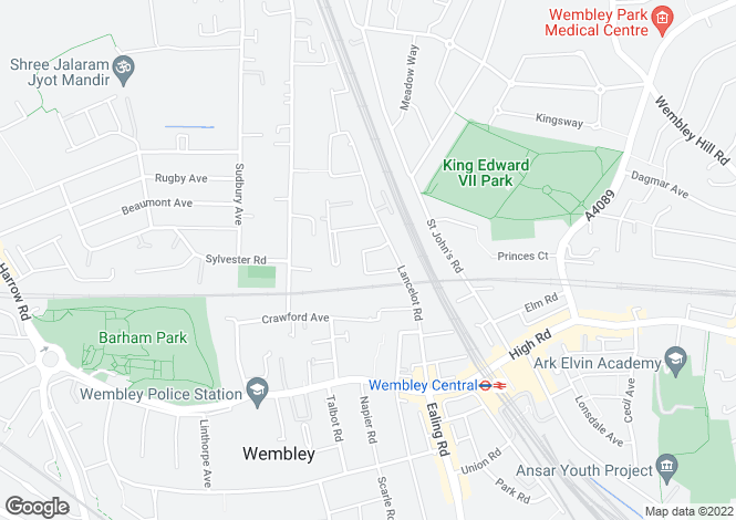 Map for Tristan Court, King George Crescent, Wembley