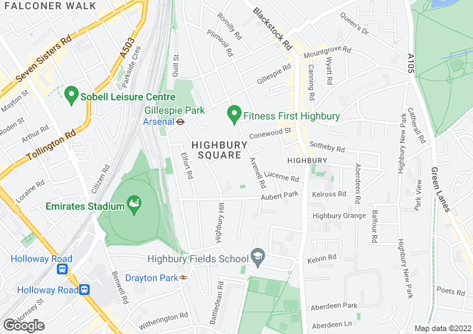 Map for Southstand Apartments, Highbury Stadium Square, London, N5