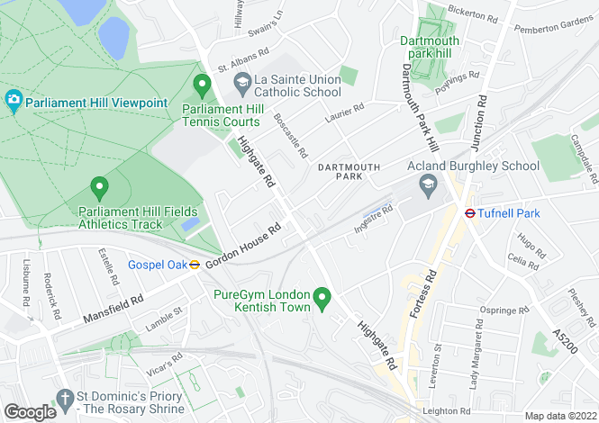 Map for Grove View Apartments, Highgate