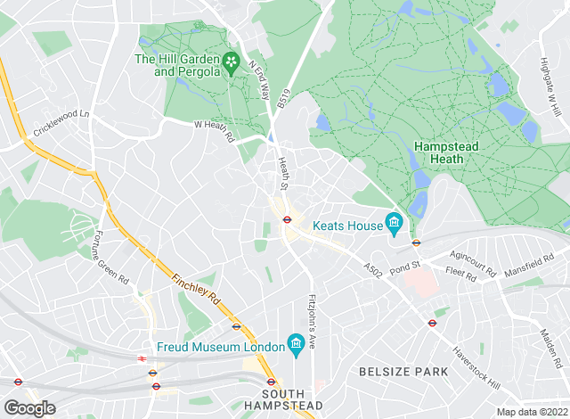 Map for Anscombe & Ringland, Hampstead Flat Sales