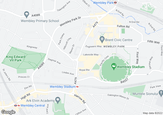Map for Quadrant Court, Empire Way, Wembley Park, Middlesex