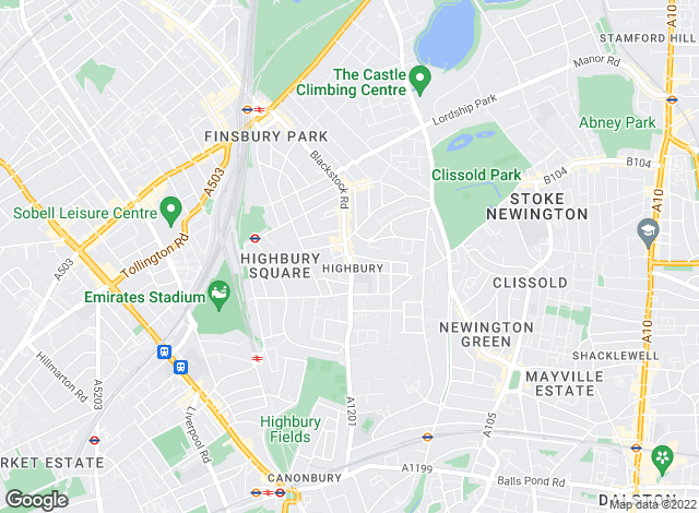 Map for David Andrew, London - Highbury