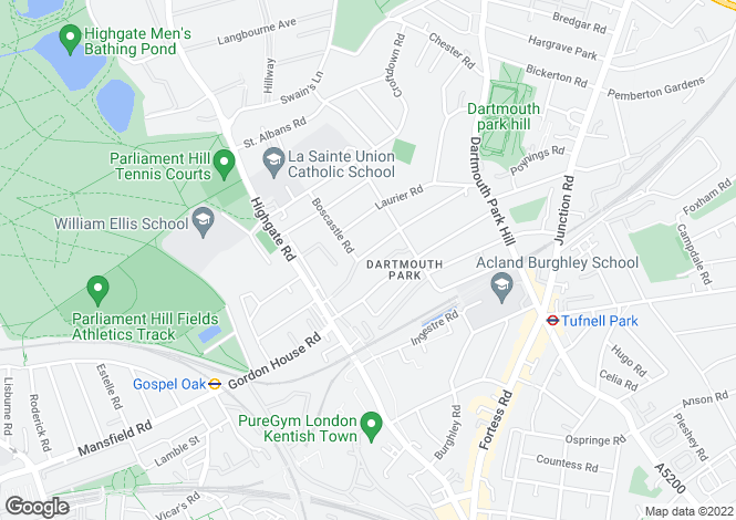 Map for Dartmouth Park Road, Dartmouth Park