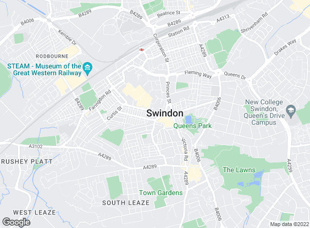 Map for Ridgeway Estate Agents, Swindon