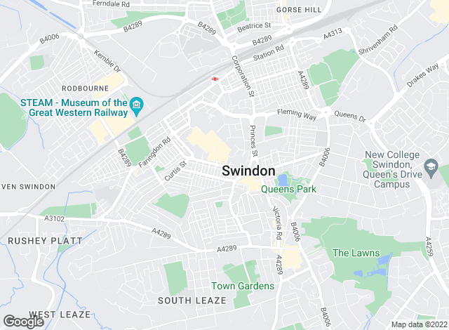 Map for Taylors Lettings, Swindon