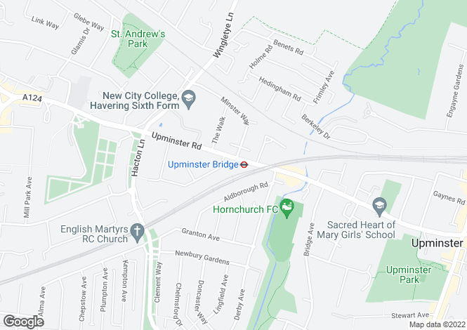 Map for Upminister Road Hornchurch