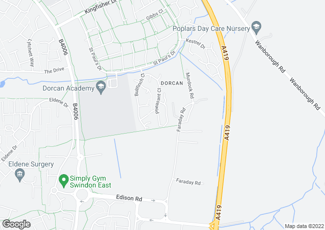 Map for Mallard Close,