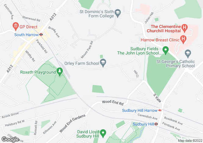 Map for South Hill Avenue  Harrow on the Hill