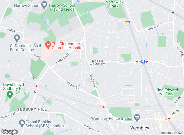 Map for Daniels, North Wembley