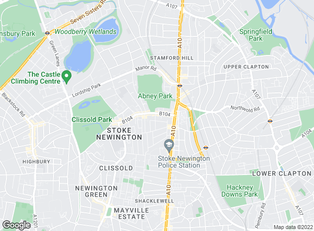 Map for Julian Reid Estate Agents, Stoke Newington