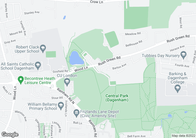 Map for Wisdons Close,