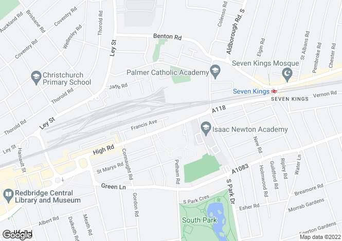 Map for Seetha House, 499 High Road, Ilford, Essex, IG1 1TZ