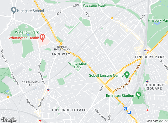 Map for Jigsaws, Holloway