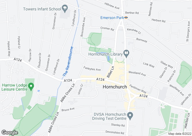 Map for Fairkytes Avenue, Hornchurch, London, rm11