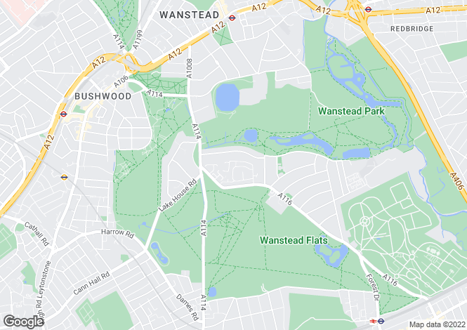 Map for Wanstead, London