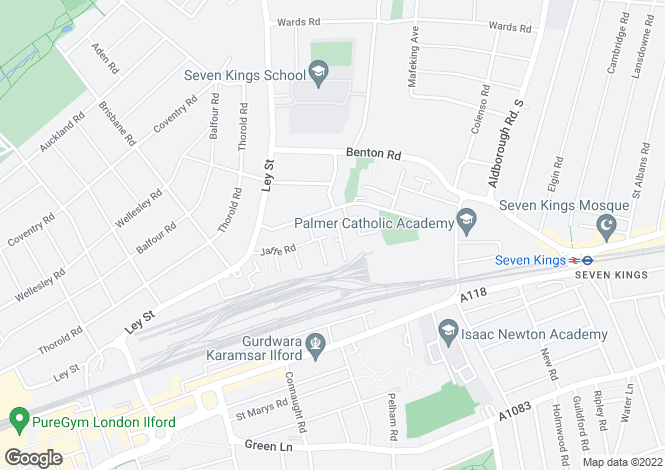 Map for Piper Way, Vicarage Lane, Lancaster Gate , Ilford , Essex , IG1 4DB
