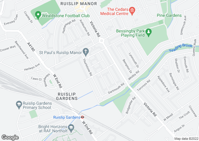 Map for Ruislip Manor