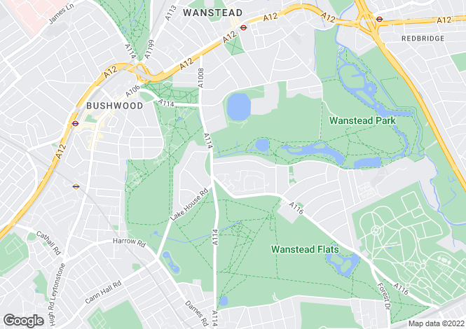 Map for Woodlands Avenue, Leytonstone, London, E11
