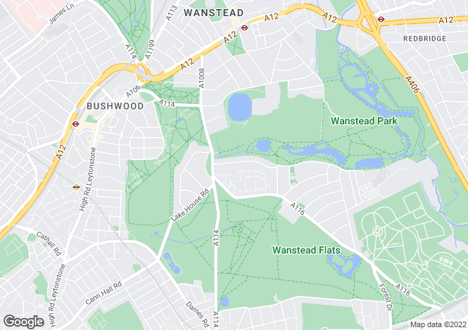 Map for Woodlands Avenue,  Wanstead