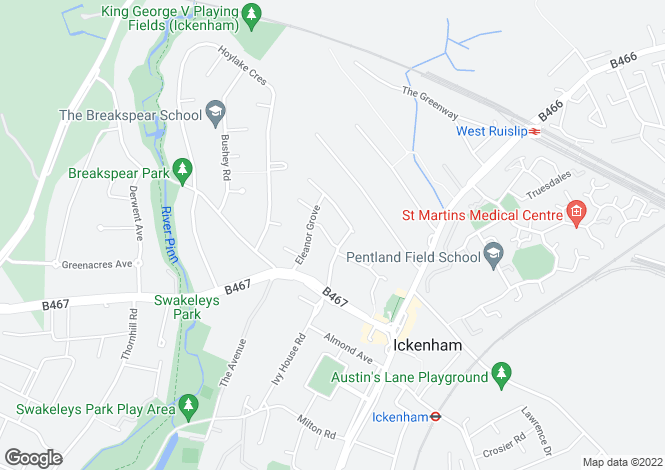 Map for Ashbury Drive,