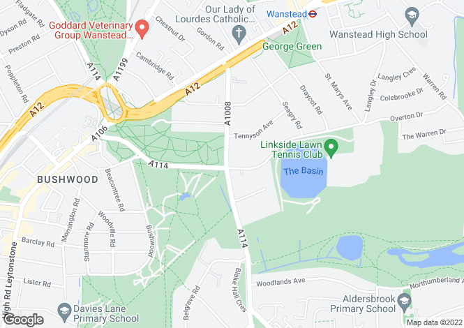 Map for Blake Hall Road,  Wanstead