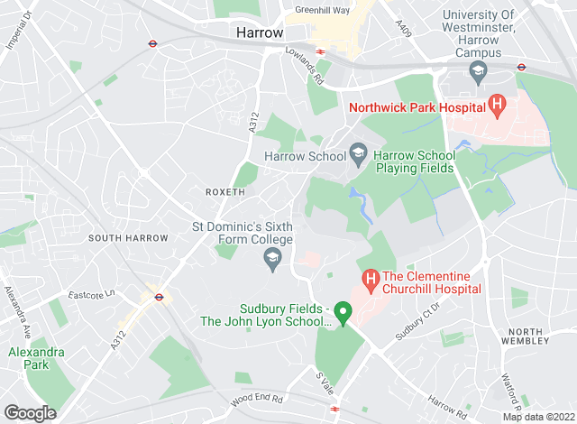 Map for Woodward Estate Agents , Harrow�s Finer Homes