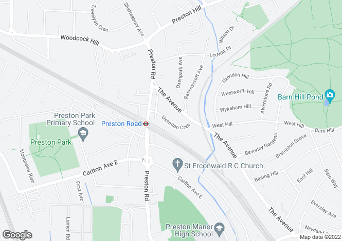 Map for Uxendon Crescent, Preston Road, Wembley