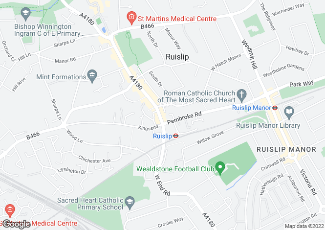 Map for High Street, Ruislip