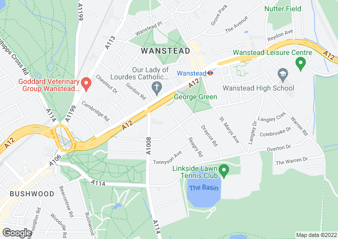 Map for Seagry Road,  Wanstead