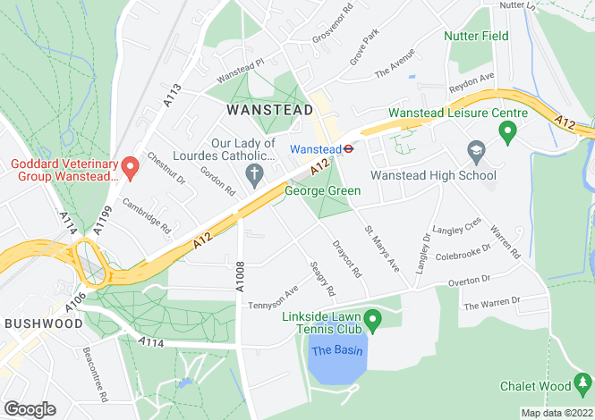 Map for Draycot Road, Wanstead, London