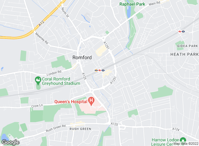Map for Bairstow Eves, Romford