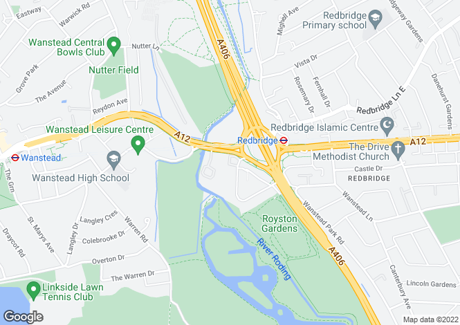 Map for Royston Gardens, Ilford, Essex