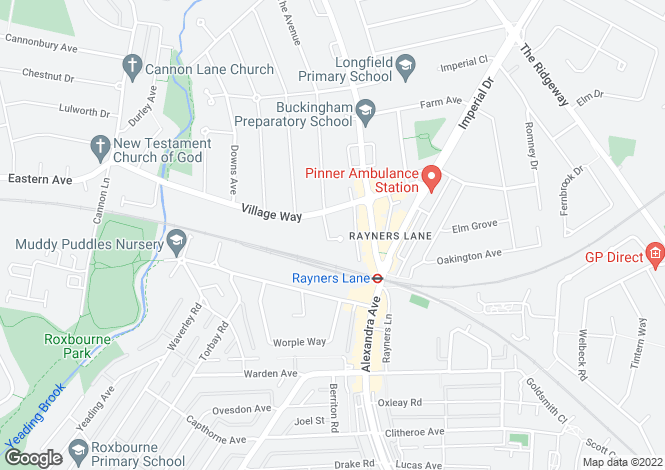 Map for South Close, Pinner