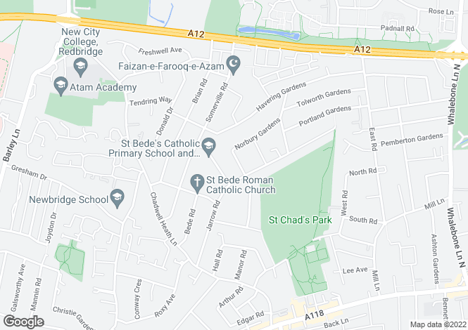 Map for Blackbush Avenue, Chadwell Heath, ROMFORD, Essex