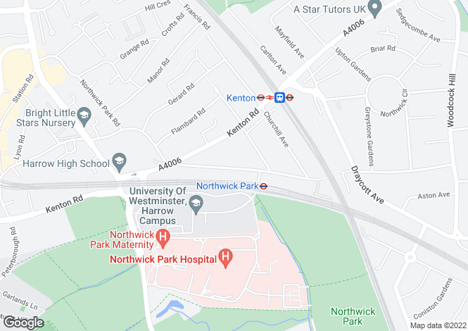 Map for Northwick Avenue, Harrow HA3