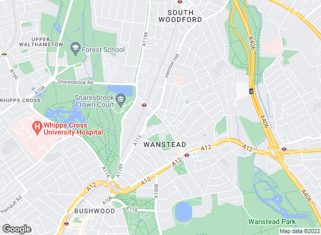 Map for elizabeth pryce, Wanstead